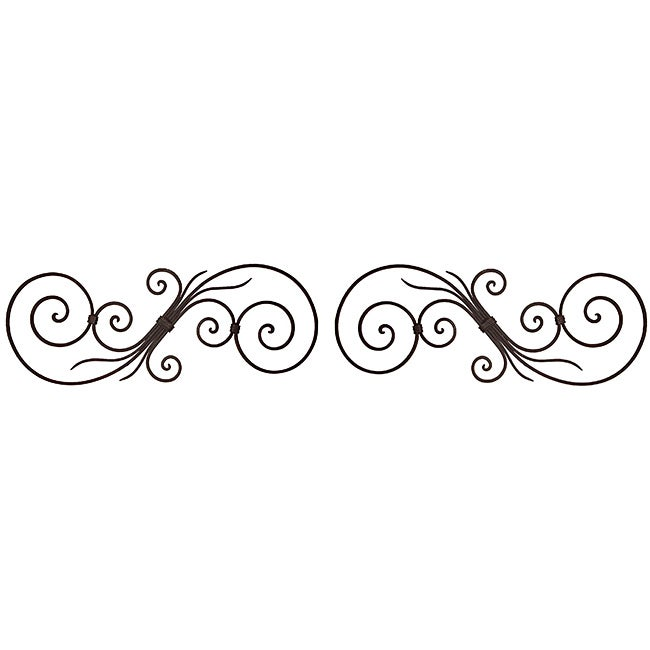 shop ornate scroll wall decor  set of 2  - free shipping on orders over  45 - overstock
