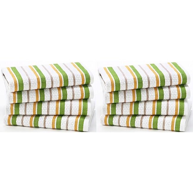 Celebration 8-piece Stripe Kitchen Oversized Dish Cloth Set
