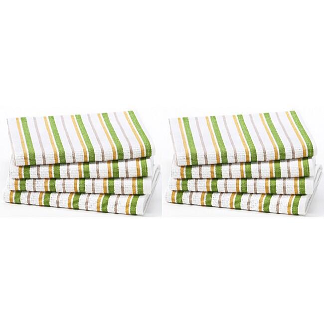 Celebration 8-piece Stripe Kitchen Oversized Towel Set
