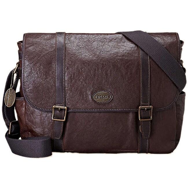 Fossil Men's 'Estate' Leather Messenger Bag