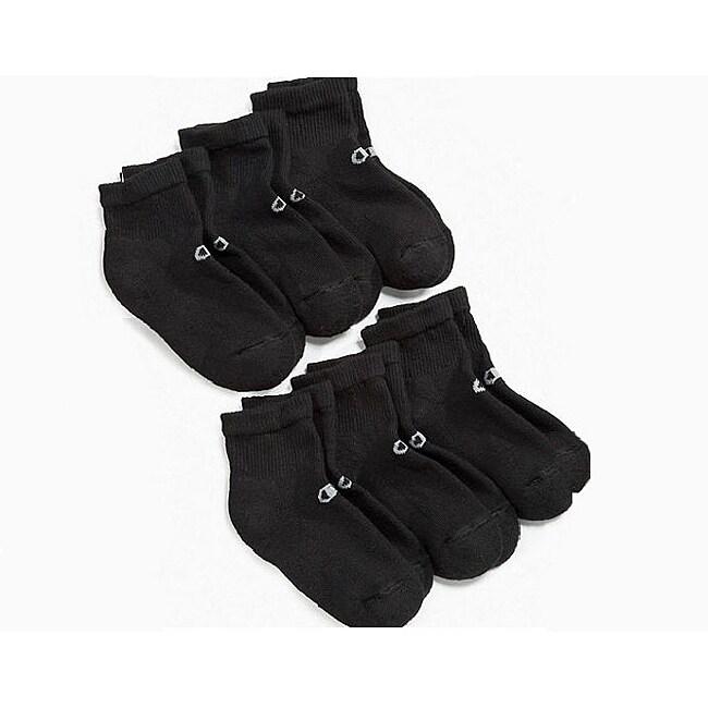 Champion Men's 'Performance' Black Ankle Socks (6 Pairs)