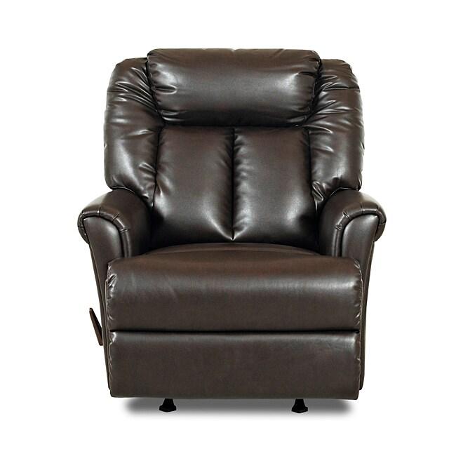 Garry Braxton Chocolate Brown Rocker Recliner Chair