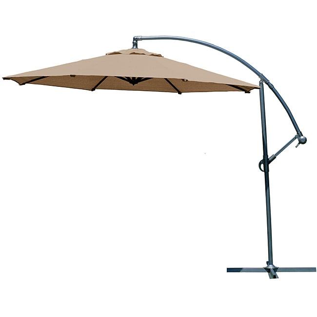 Gale Pac 10-foot Mocha Cantilever Umbrella