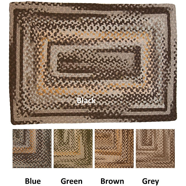 Space Dyed Reversible Cotton Braided Rug (3'6 x 5'6)