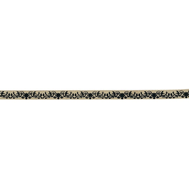 Prima Flowers Black Pattern 18-yard Ornamental Edging Trim