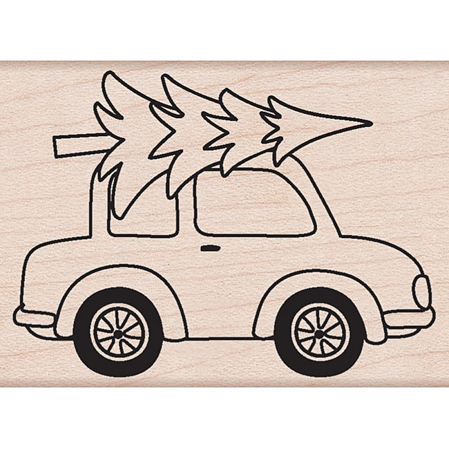 Hero Arts 'Car With Tree' Mounted Rubber Stamps