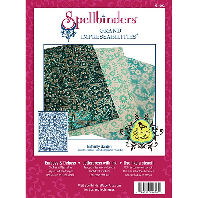 Spellbinders Grand Impressabilities Butterfly Garden Embossing Die Stencil