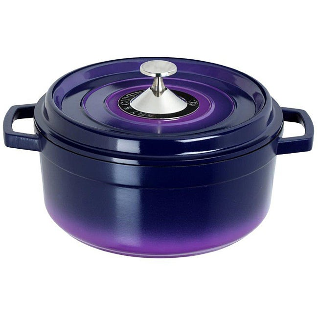 Art cuisine cocotte purple 4 4 quart cast aluminium for Art and cuisine cookware reviews