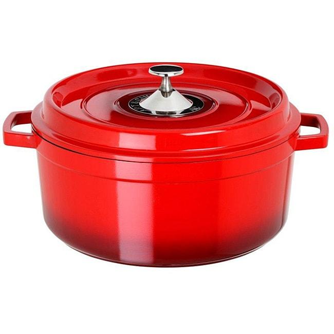 Art & Cuisine Cocotte Red 4.4-quart Cast Aluminium Round Soup Pot