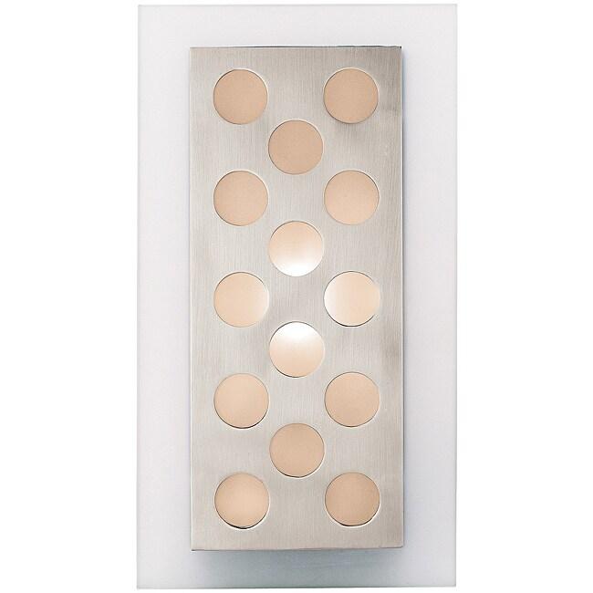 Access Aquarius Dots 1-light Brushed Steel Wall Fixture