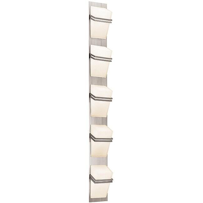 Access Titan 5-light Brushed Steel Wall Vanity