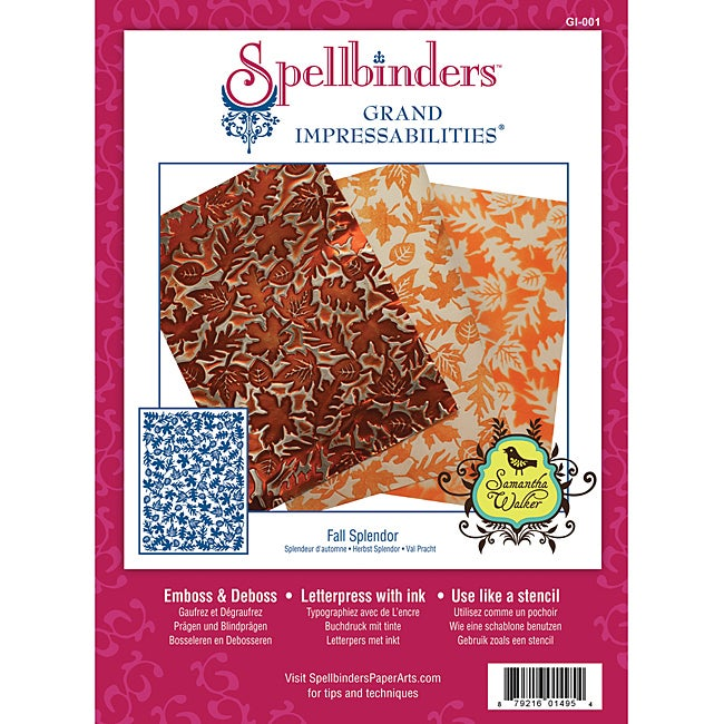 Spellbinders Grand Impressabilities 'Fall Splendor' Die