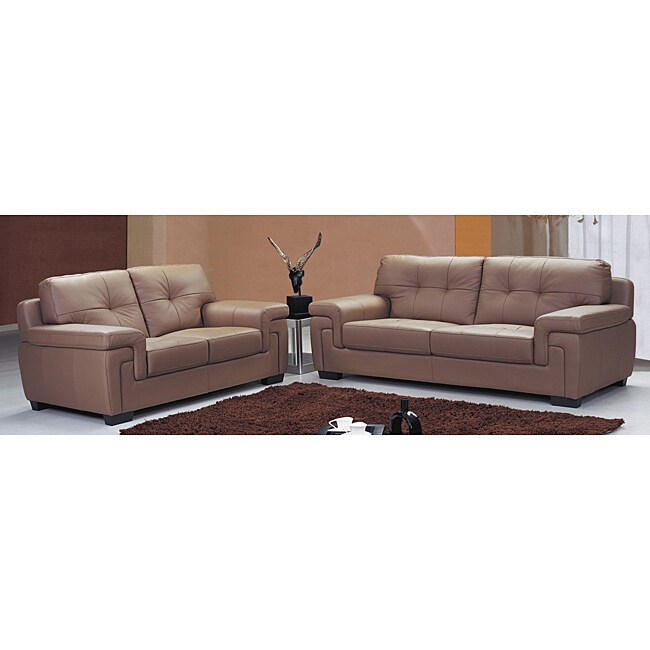 Shop Mcalester Leather Dark Brown Sofa And Loveseat Set Free