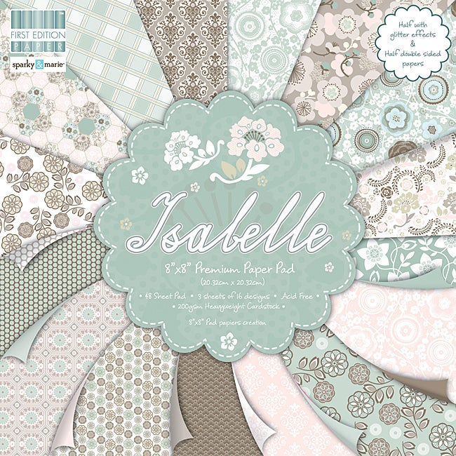 First Edition 'Isabelle' 8-inch Scrapbook Premium Paper Pad
