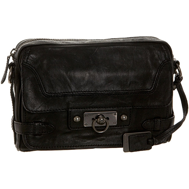 80aa4569f420 Shop Frye  Cameron  Black Leather Cross-body Bag - Free Shipping Today -  Overstock - 6549165