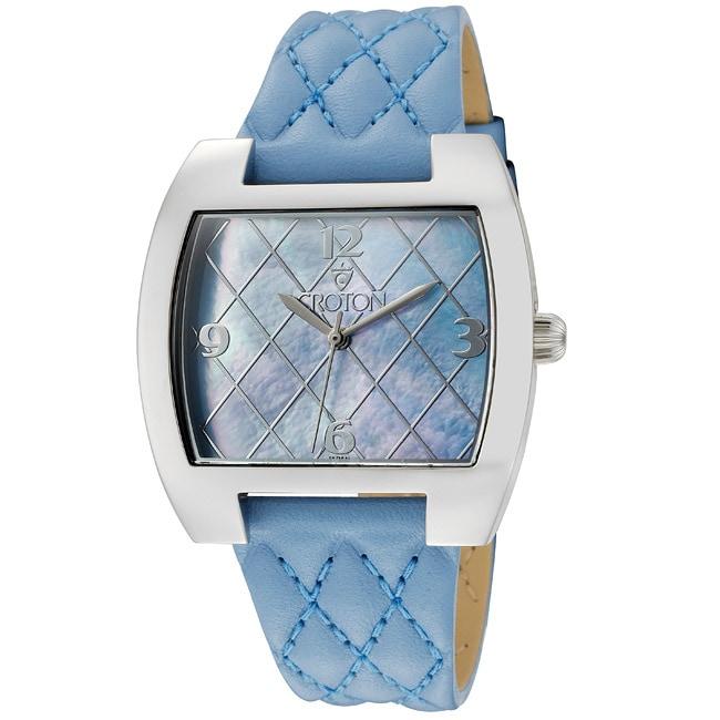 Croton Women's 'Croton' Blue Genuine Leather Watch