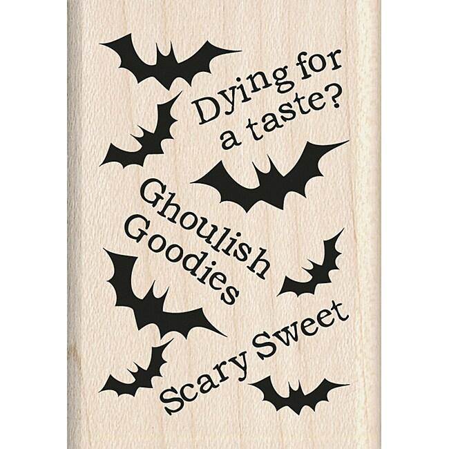 Inkadinkado Halloween Mounted Rubber Stamp-Ghoulish Pattern