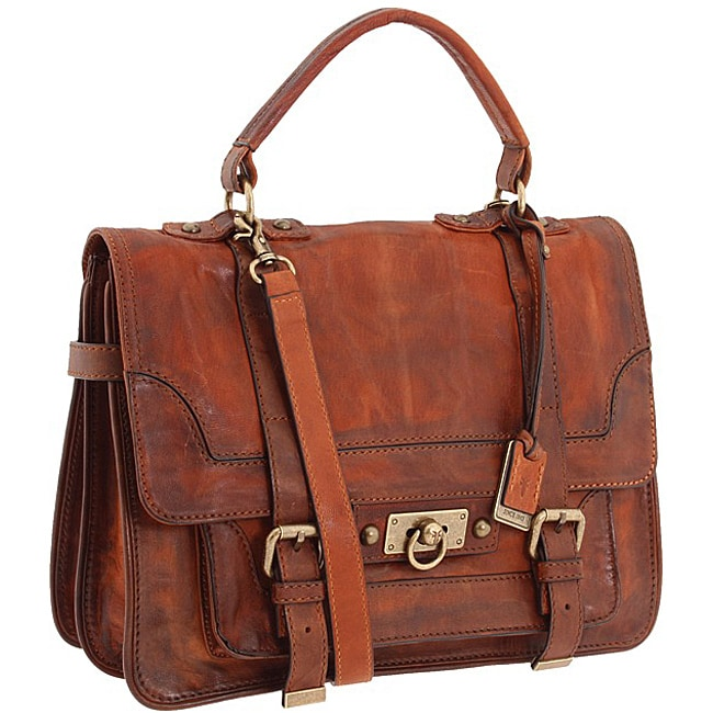 Shop Frye  Cameron  Cognac Leather Satchel - Free Shipping Today -  Overstock - 6554006 e33756c0afe28