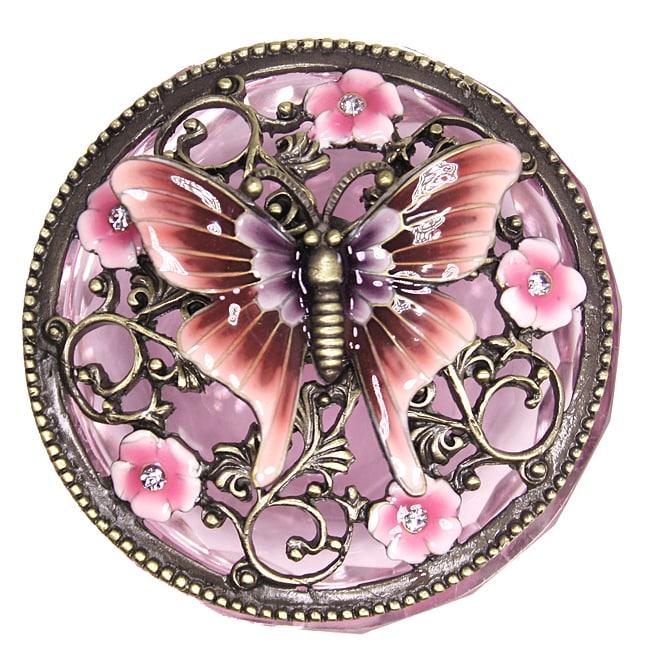 Cristiani Crysal Base Butterfly Box