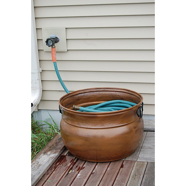 Copper Finished Steel Large Hose Pot