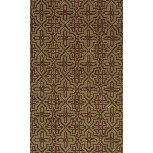 "Power-Loomed Moresque Sage Rug (8'0""x10'0"")"