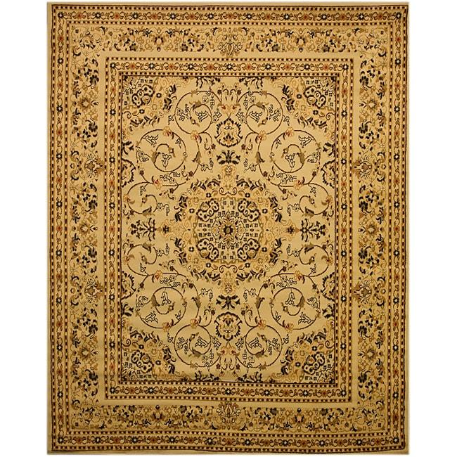 Beige Traditional Oriental Esfahan Rug (5'3 x 7'3)