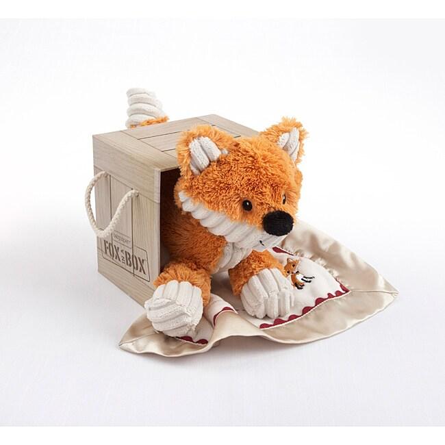 Baby Aspen Fox in a Box Plush Fox Lovie Gift Set