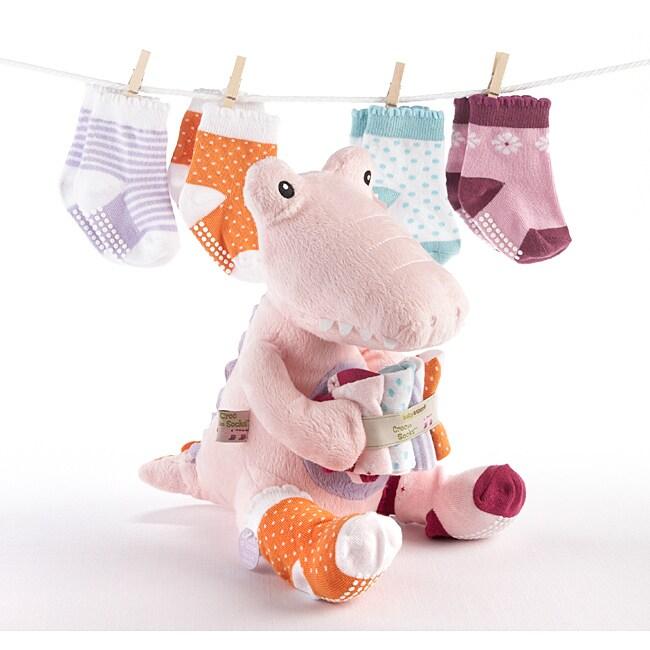 Baby Aspen Croc in Socks Baby Socks Gift Set