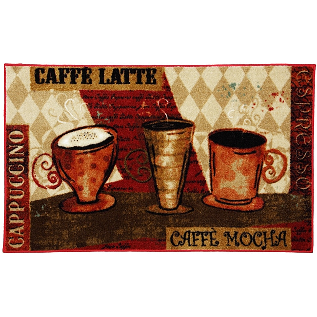 Mohawk Home Jazzy Coffee Red Kitchen Rug 1 X27