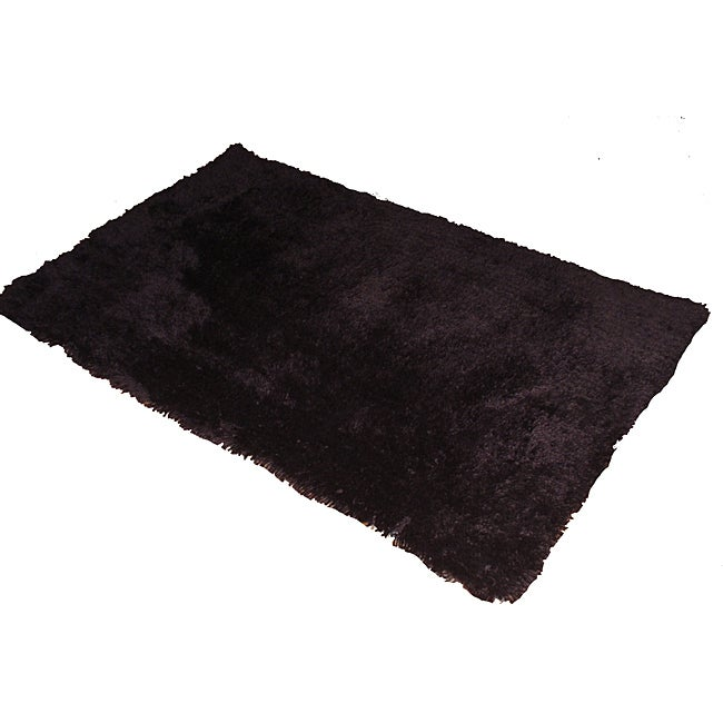 Ultra Plush Chocolate Brown Shag Rug (5'3 x 7'3)