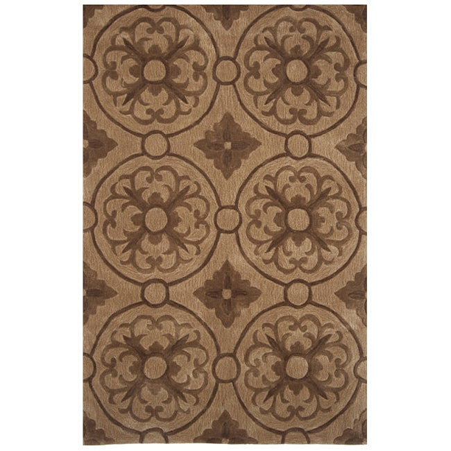 "Hand-tufted Dynasty Brown Rug (7'9""x10'9)"