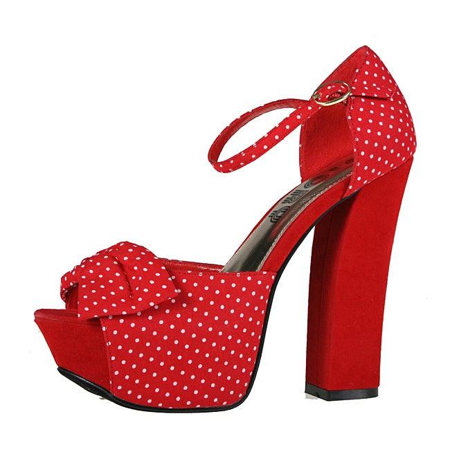 Refresh by Beston Women's 'DEENA-03' Chunky Heel Sandals