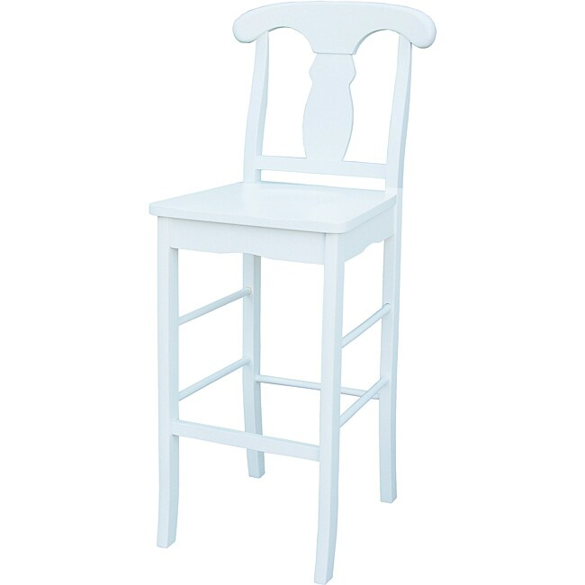 Simple Living Empire White 30 Inch Stool Free Shipping