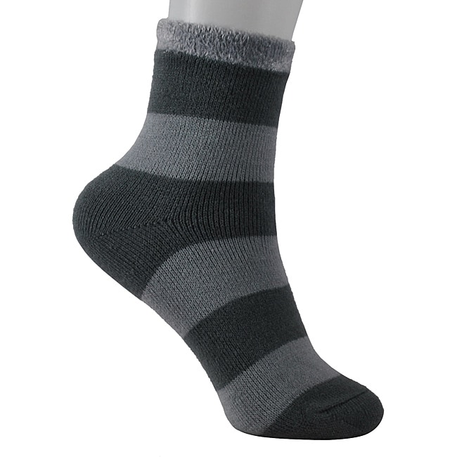 Women's Grey/ Black Shea Butter Double Layer Socks