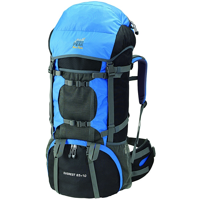 Alpinizmo by High Peak USA Everest 65+10 Hiking Backpack with Detachable Toplid