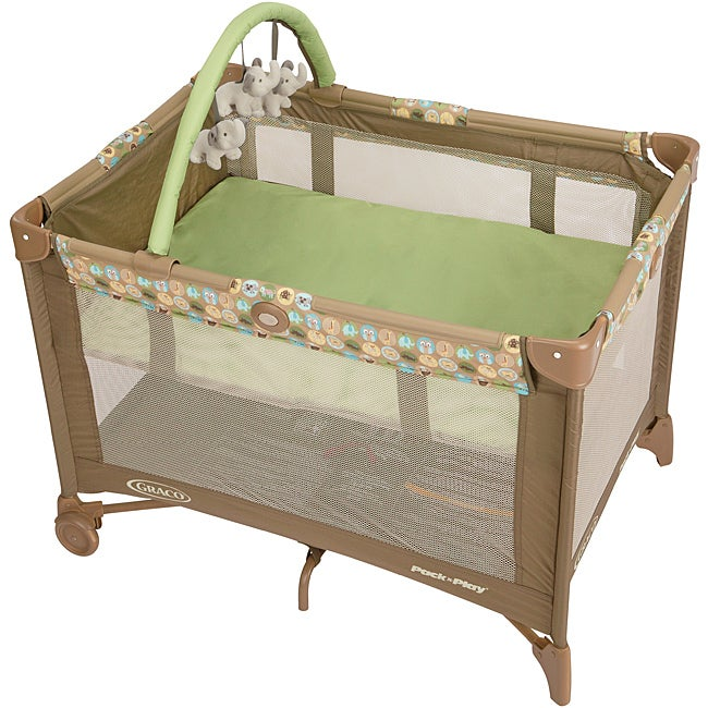 Graco Pack 39 N Play Playard With Bassinet In Zooland Free Shipping Today