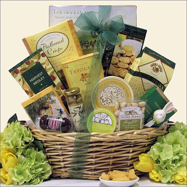 'Tempting Easter Cheese Delights' Large Gift Basket