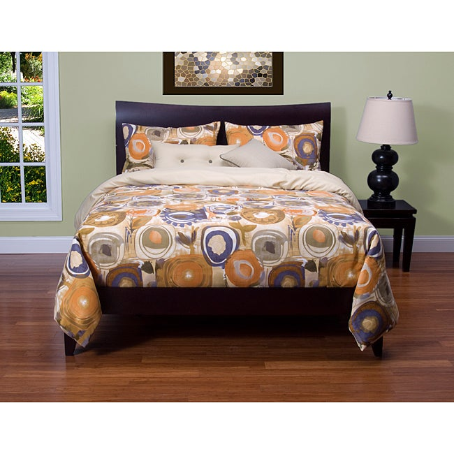 Enchanted Maze 6-piece Reversible King-size Duvet Cover and Insert Set