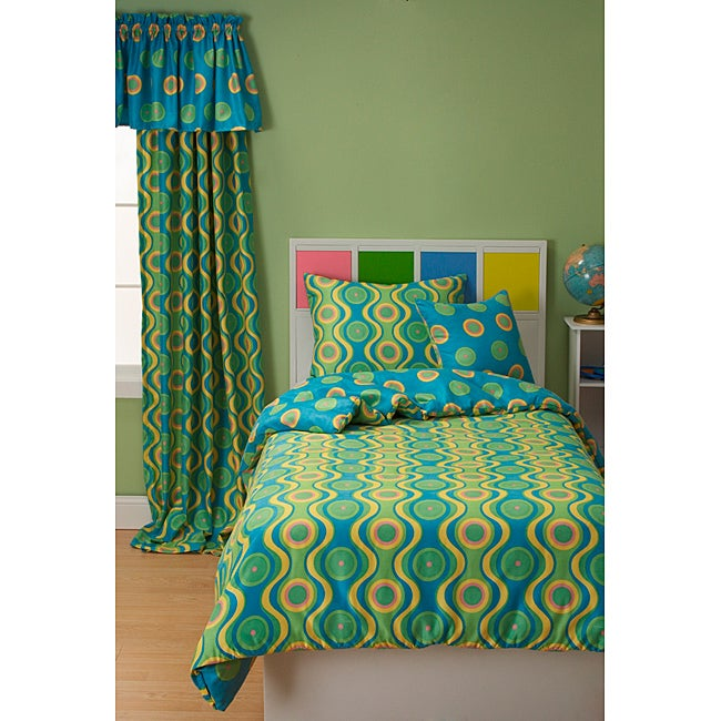 Whimsy 4-piece Reversible Twin-size Duvet Cover Set