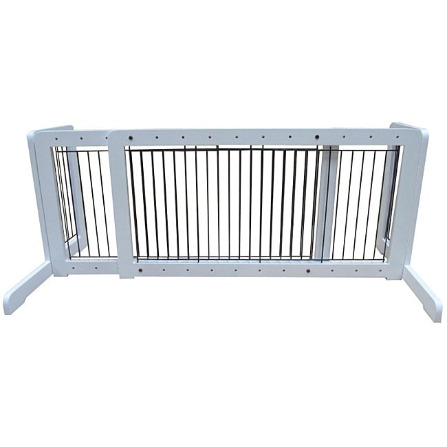 Merske White Free Standing Step Over Gate