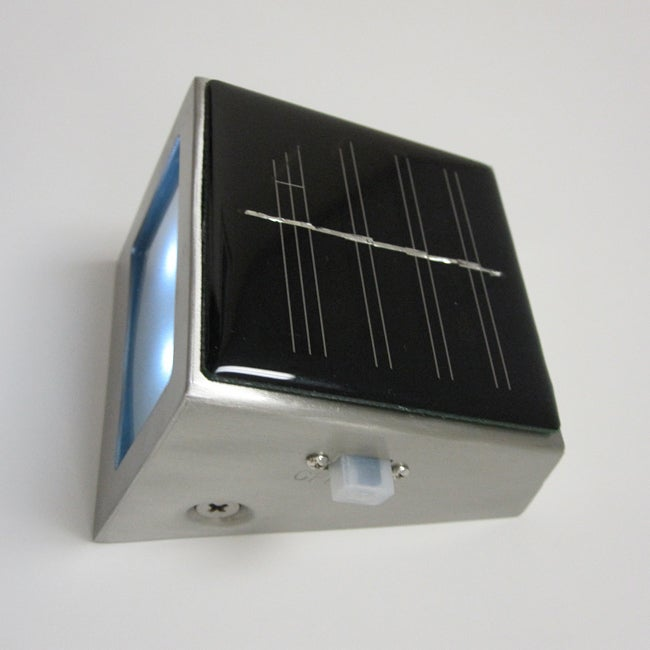 Solar Wedge 2-light Stainless Steel and Frosted Glass Wedge Light