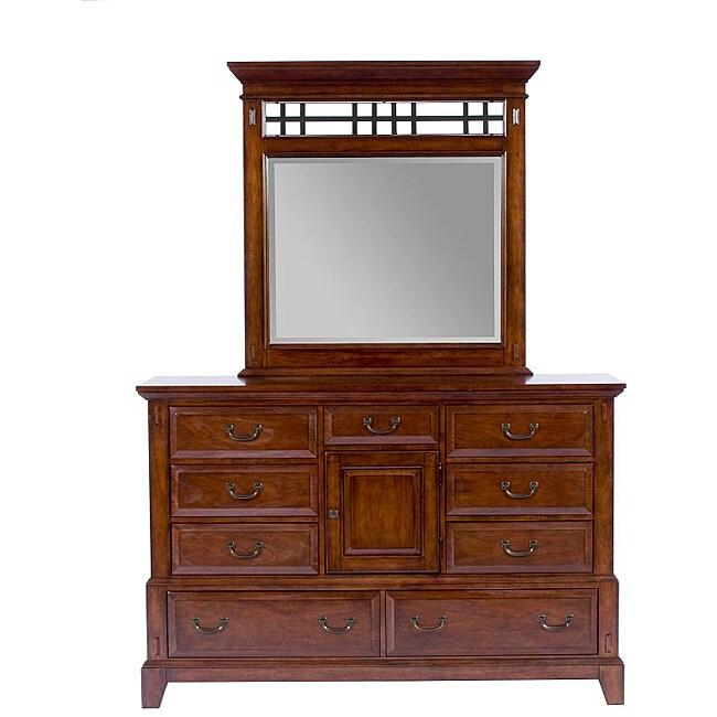 Shop Broyhill Vantana Door Dresser with Mirror - Free Shipping Today ...