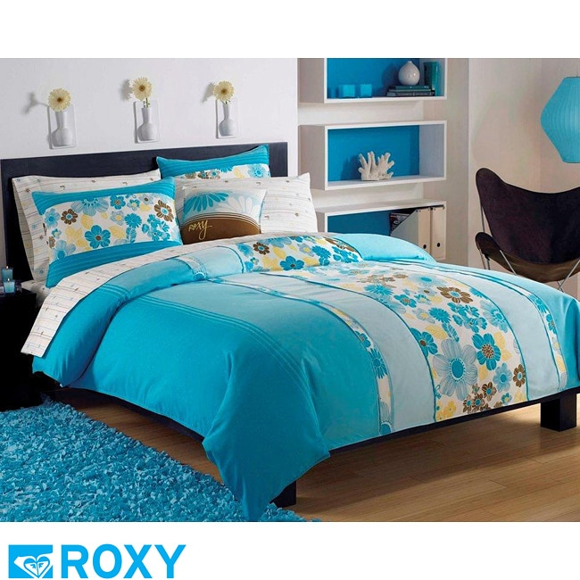 roxy beach break 9 piece full size bed in a bag with sheet set free shipping today overstock. Black Bedroom Furniture Sets. Home Design Ideas