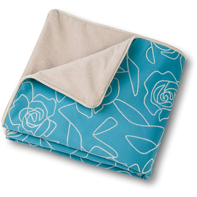Crypton 'Bed of Roses' Blue Throver (48 x 54)