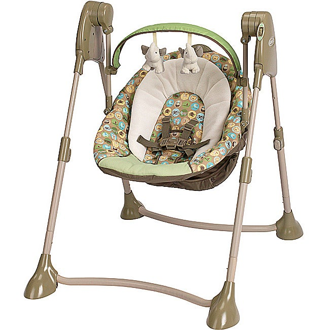Graco Swing By Me Portable Swing in Zooland