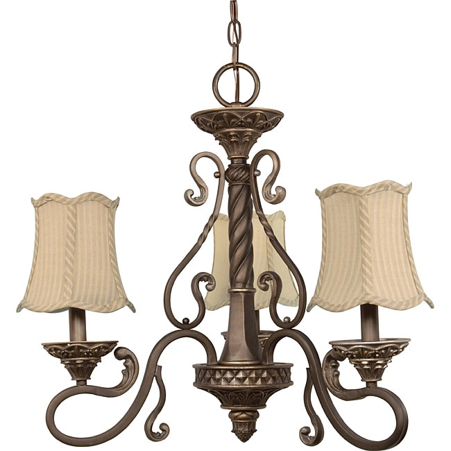 Nuvo Lighting 'Celeste' 3-light Gold Coast Finish Chandelier