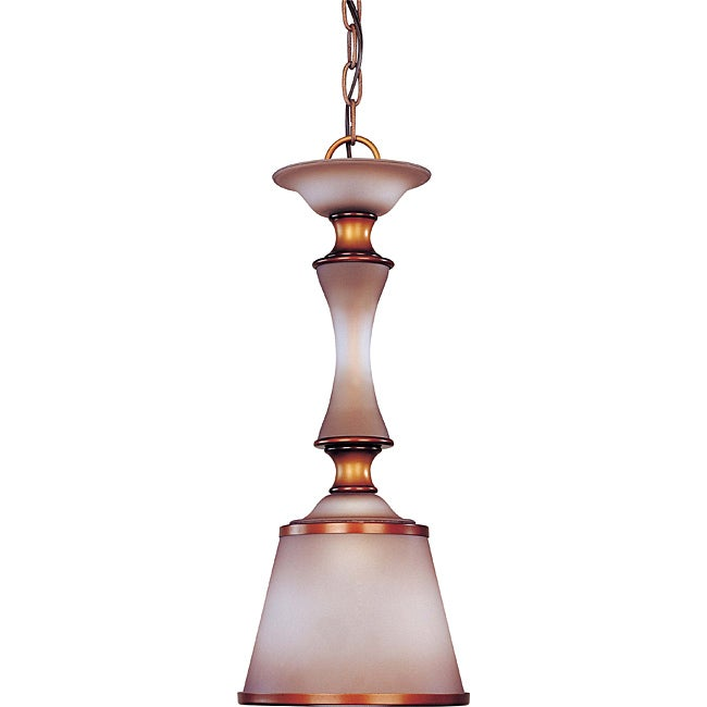 Cornelia Mini-pendant Newport Copper Finish with Autumn Haze Glass