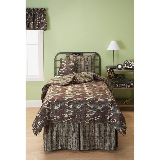 Galaxy Camo 6-piece Reversable Full-size Duvet Cover and Insert Set