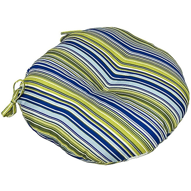 18 Round Patio Chair Cushions: Shop Poolside Stripe18-inch Round Outdoor Bistro Chair