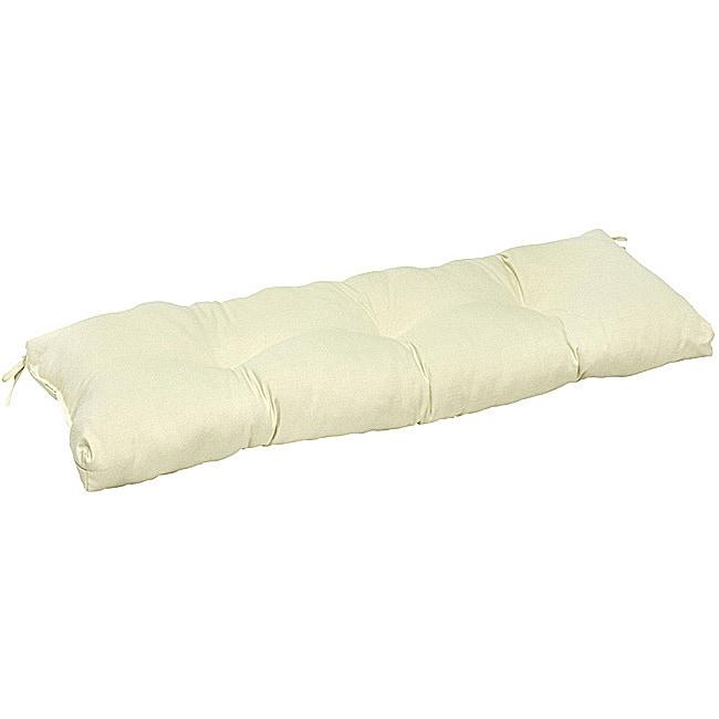 Shop Beige 51 Inch Outdoor Bench Cushion Free Shipping